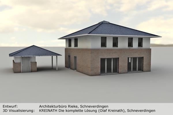 KREINATH Die Komplette Lösung Olaf Kreinath Schneverdingen Büromöbel - 3D Ansicht Haus Rendering 01