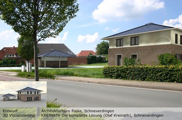 KREINATH Die Komplette Lösung Olaf Kreinath Schneverdingen Büromöbel - 3D Ansicht Haus Rendering 03