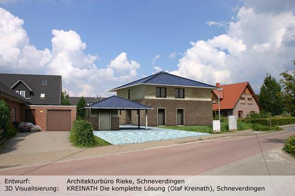 KREINATH Die Komplette Lösung Olaf Kreinath Schneverdingen Büromöbel - 3D Ansicht Haus Rendering 02